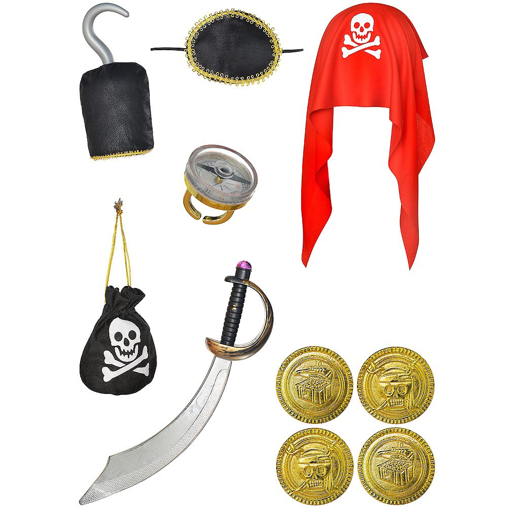 Child Swashbuckling Pirate Accessory Kit Image #2