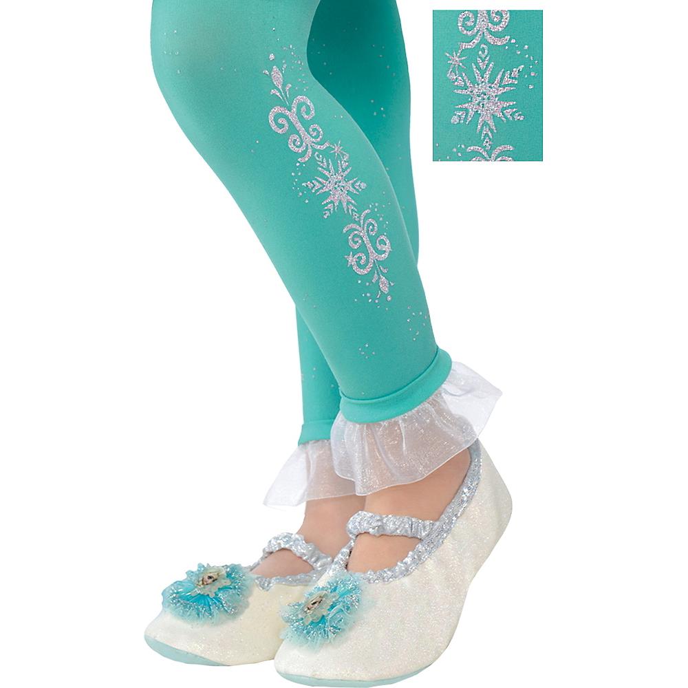 Child Footless Elsa Tights - Frozen Image #1