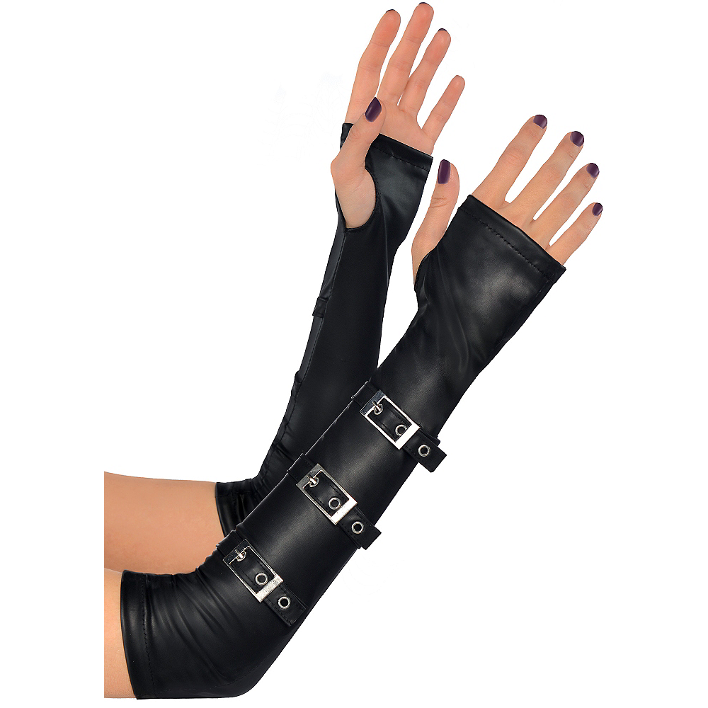 Gothic Arm Warmers with Buckles Image #1