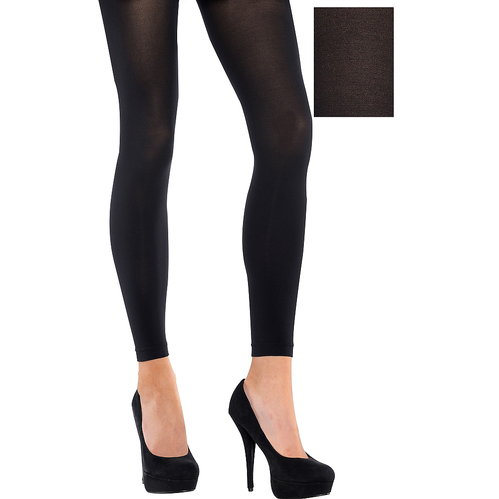 efeb52d59d56b Adult Black Footless Tights | Party City Canada