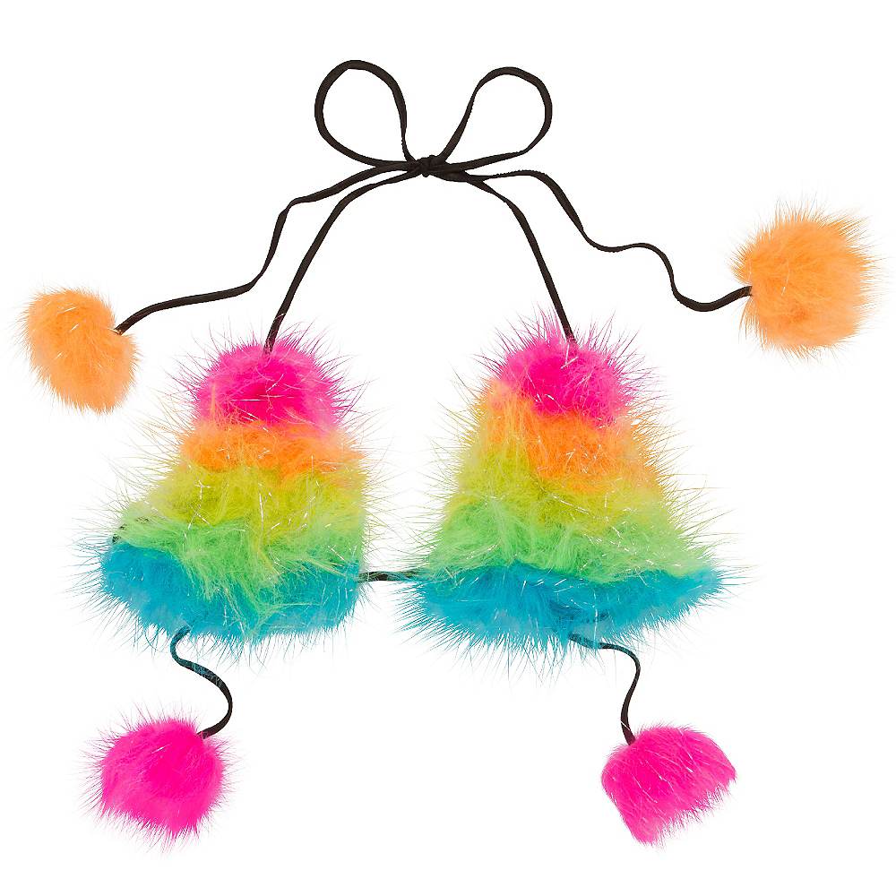 Electric Party Furry Bra Top Image #1