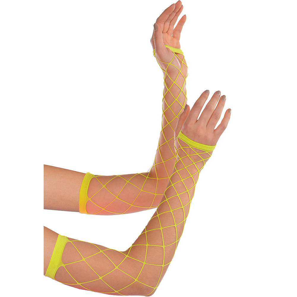 Neon Fishnet Arm Warmers Image #1