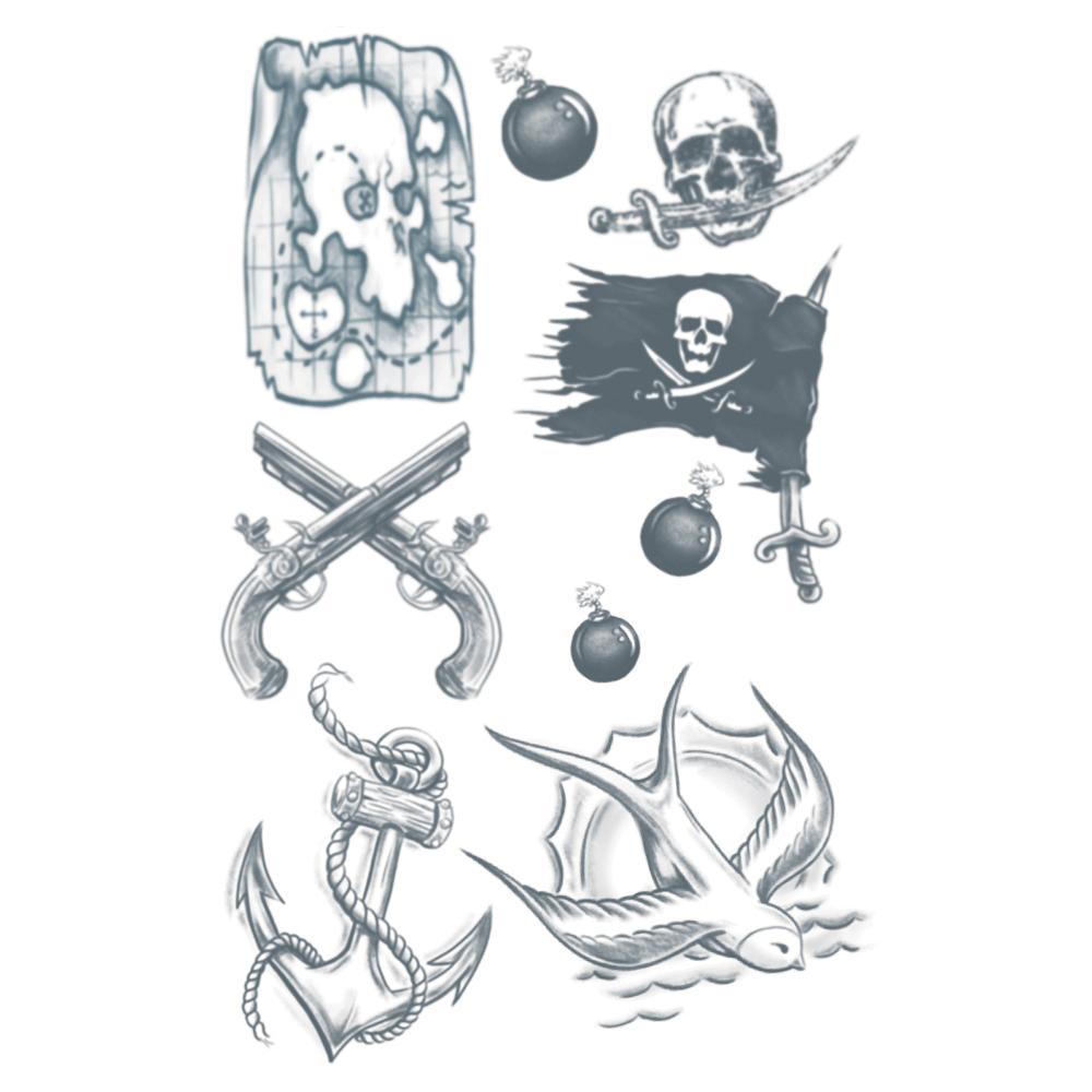 Buccaneer Pirate Tattoos 1 Sheet- Tinsley Transfers Image #1