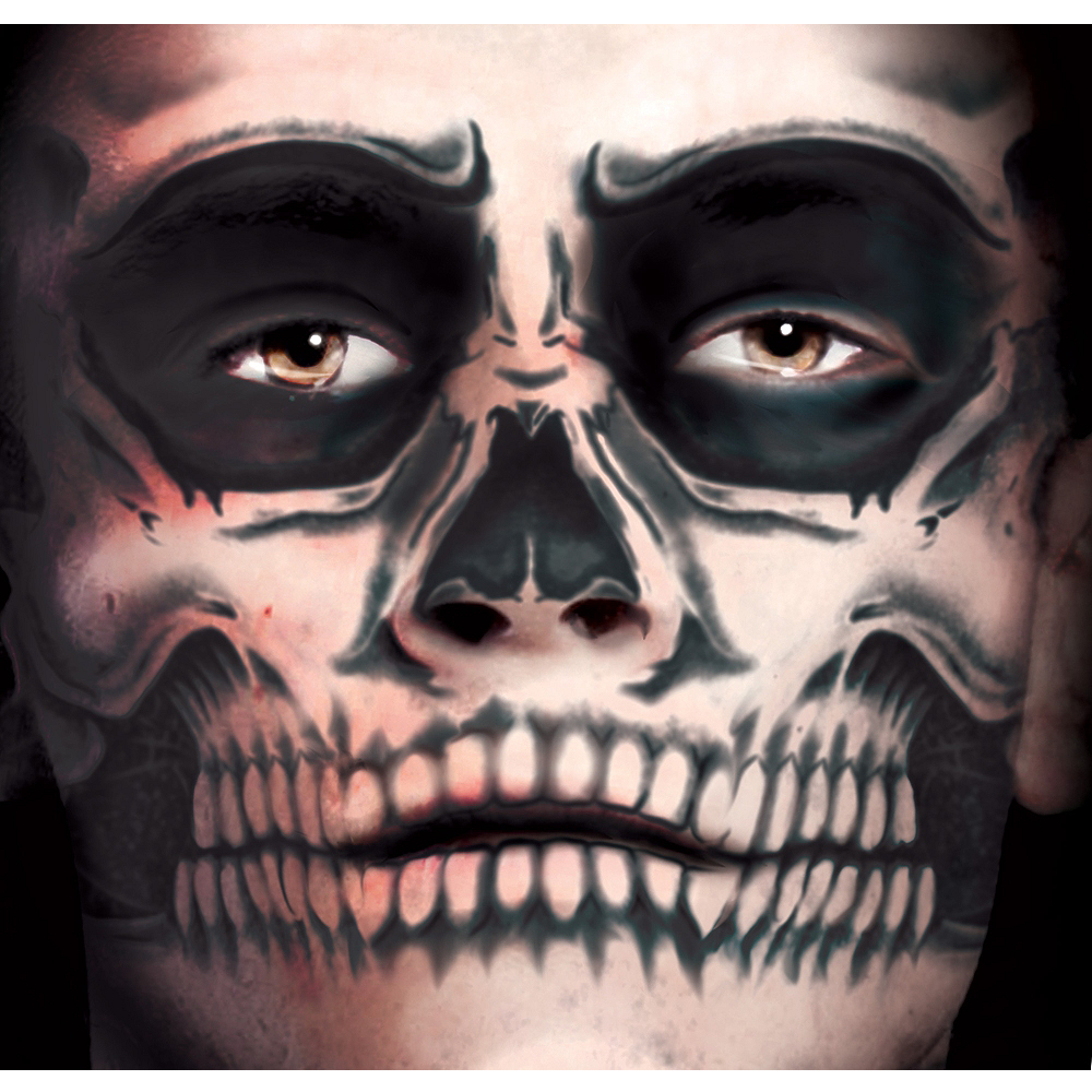 ea34bfce6 Nav Item For Skull Face Tattoo Kit Day Of The Dead Tinsley Transfers Image