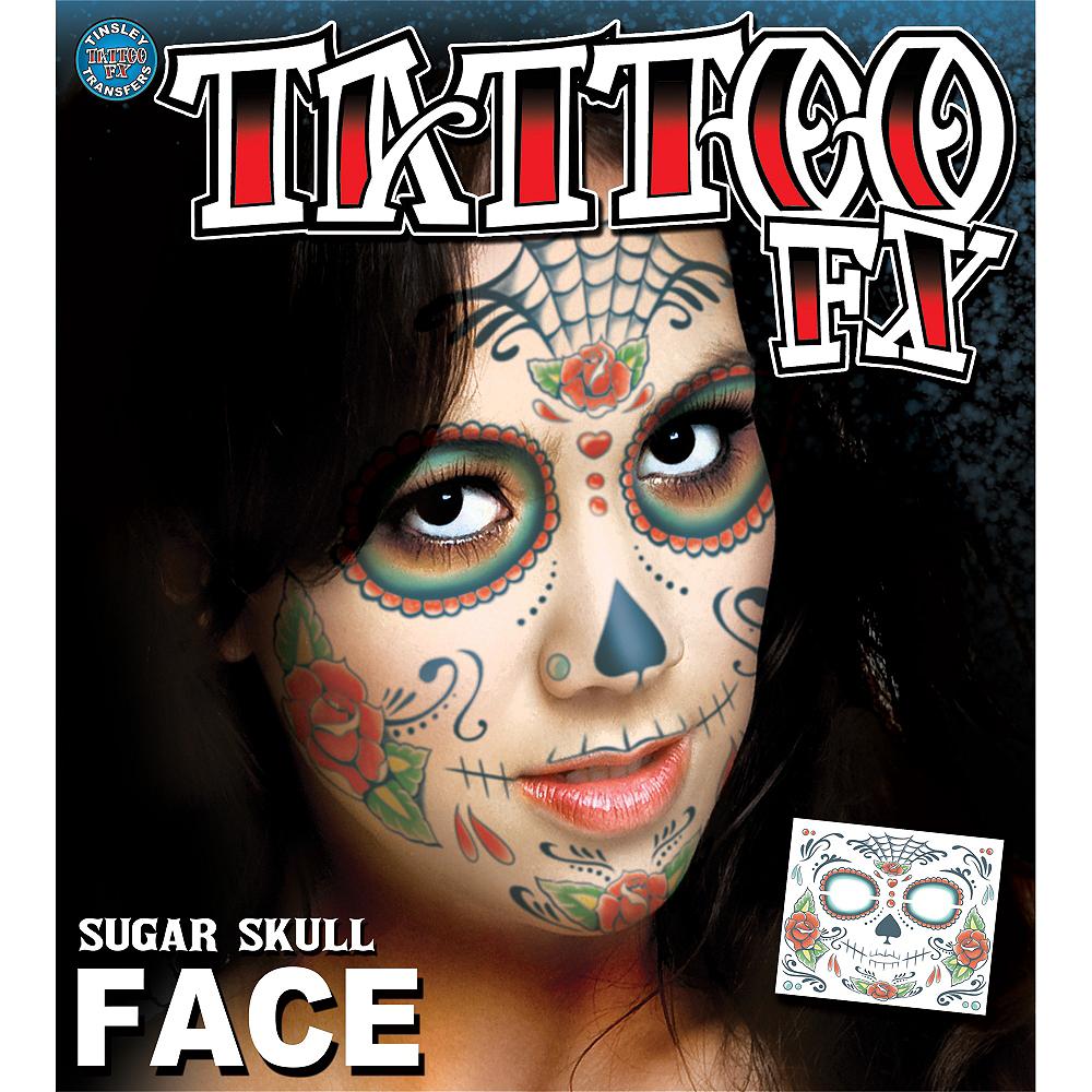 Sugar Skull Face Tattoo Kit Party City