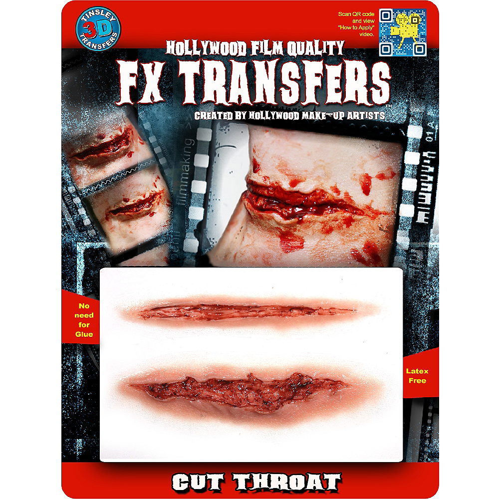 Cut Throat Prosthetics- Tinsley Transfers Image #2