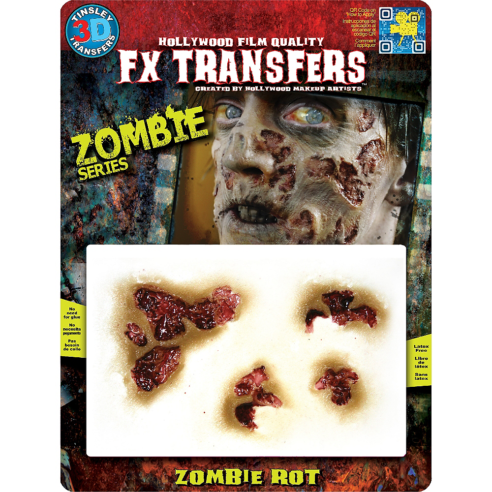 Zombie Rot Wound Prosthetics 4ct- Tinsley Transfers Image #2