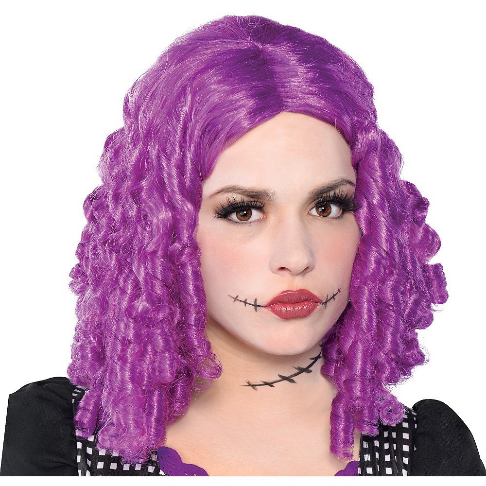 Purple Doll Wig Image #1