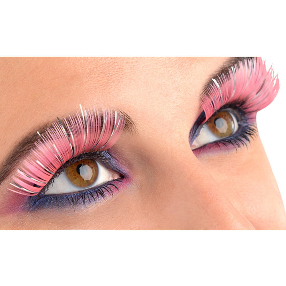 Electric Party Pink & Silver Lashes Image #1