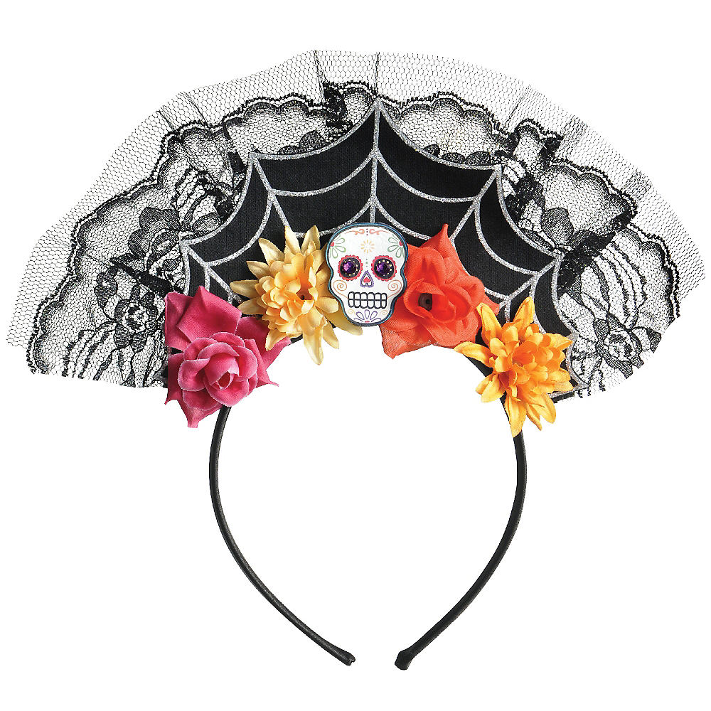 Day of the Dead Tiara Headband Image #1