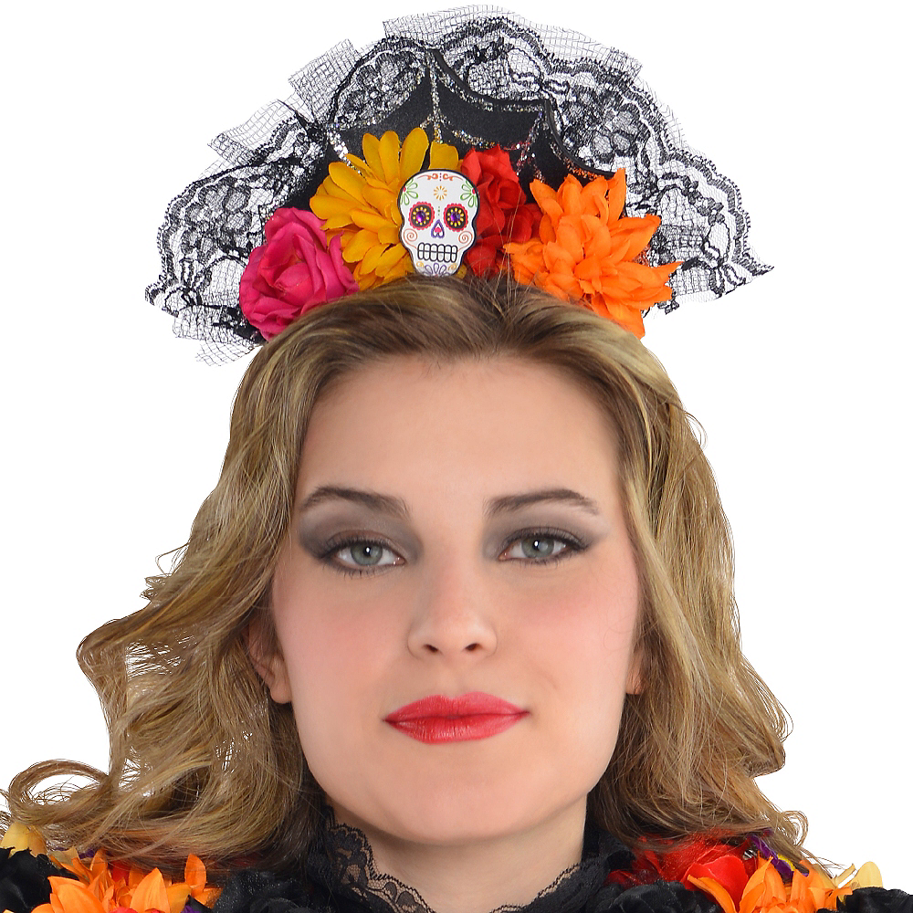 Day of the Dead Tiara Headband Image #2