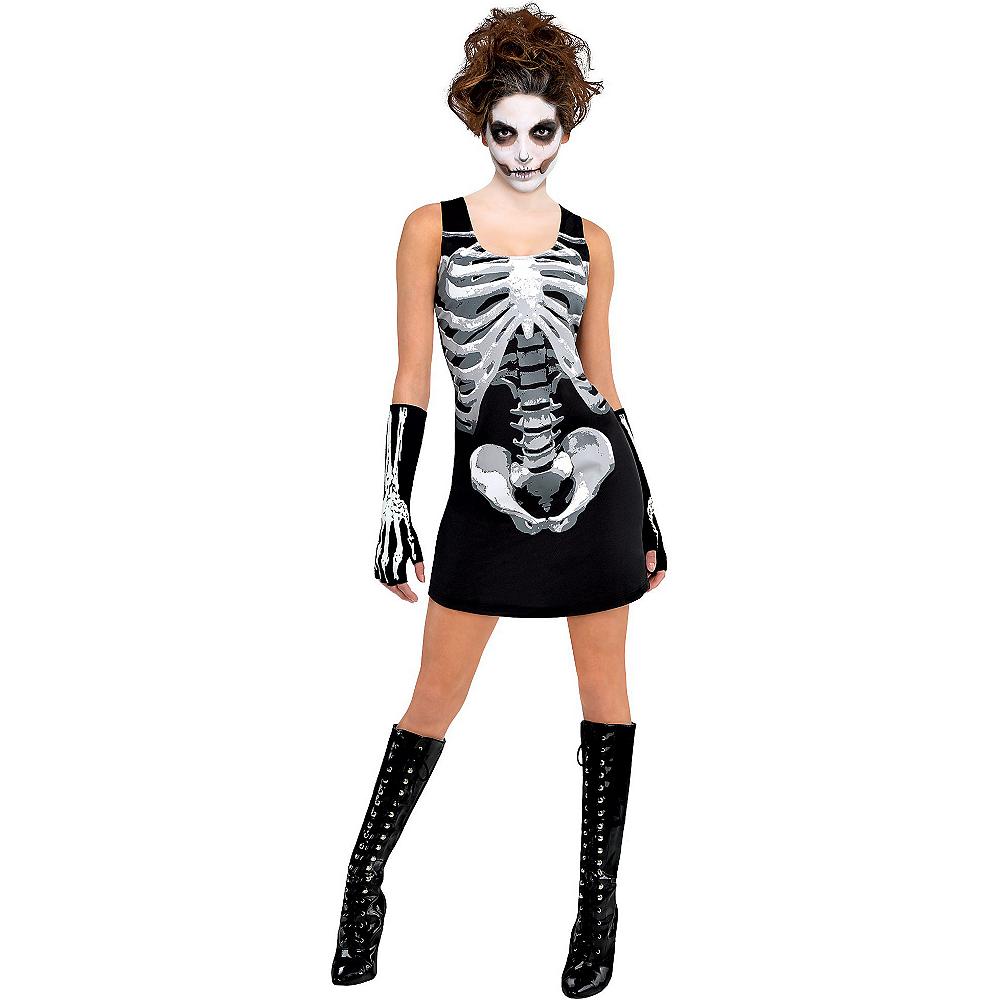 Adult Black & Bone Tank Dress - Skeleton Image #2