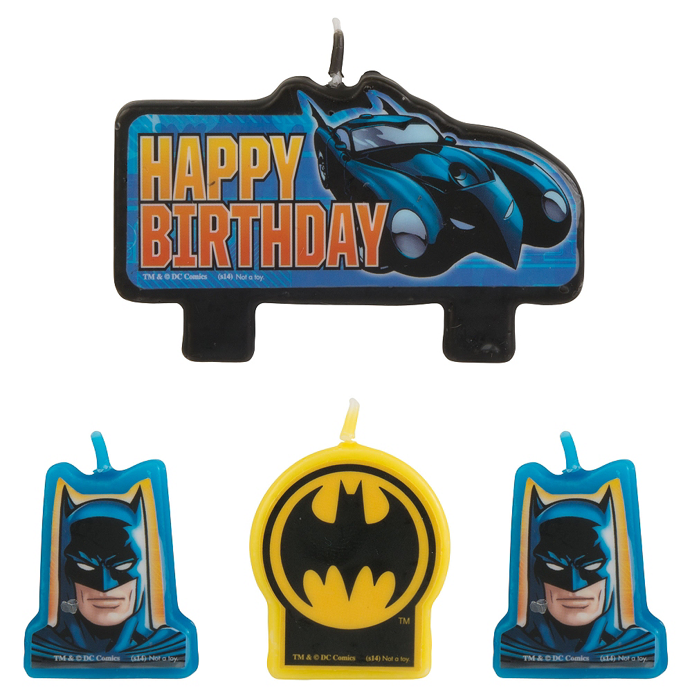 Batman Birthday Candles 4ct Image #1