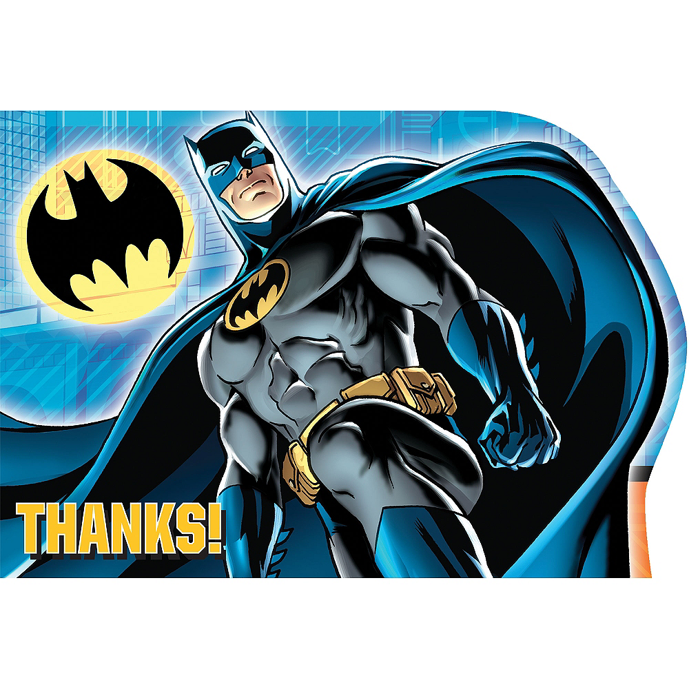 Batman Thank You Notes 8ct Image #1