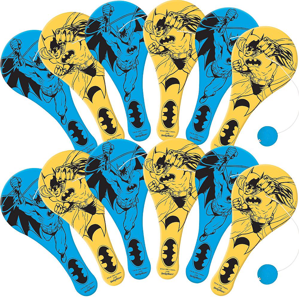 Batman Paddle Balls 12ct Image #1