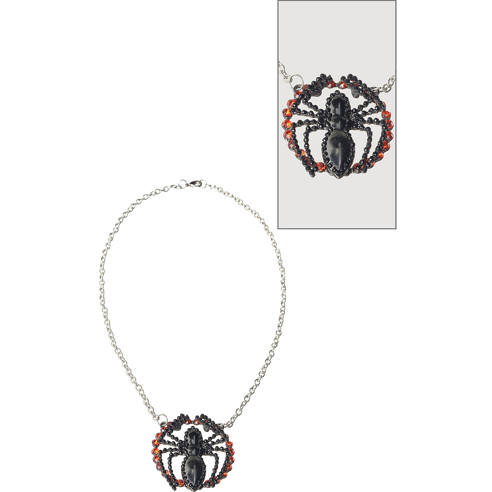Beaded Spider-Girl Necklace Image #1