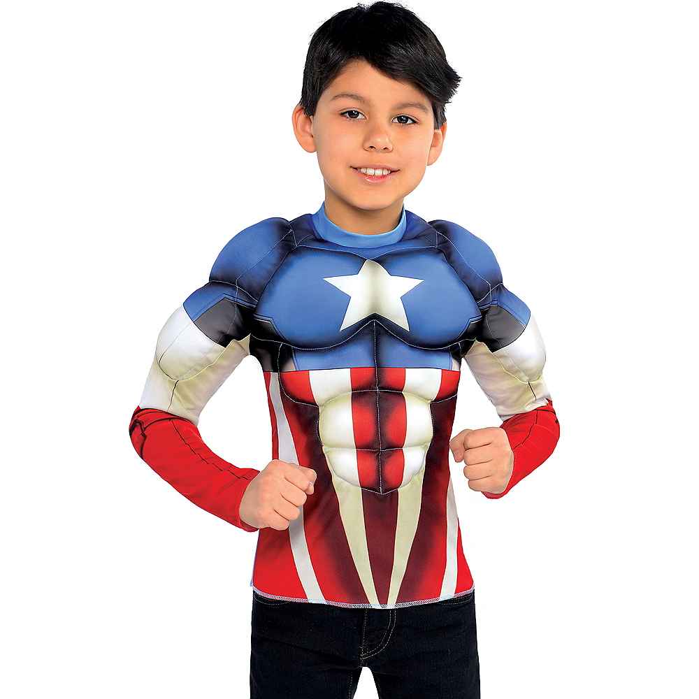 Child Captain America Muscle Shirt Image #1