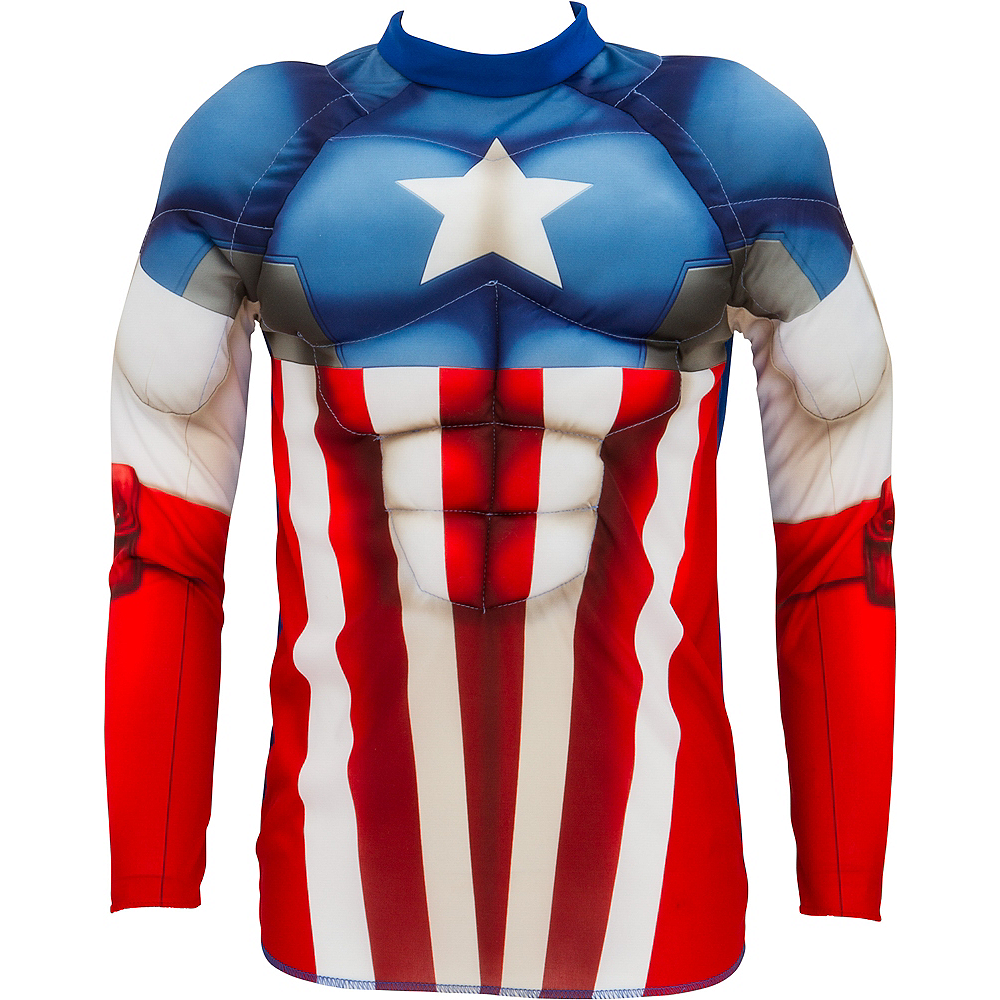 Nav Item for Child Captain America Muscle Shirt Image #2