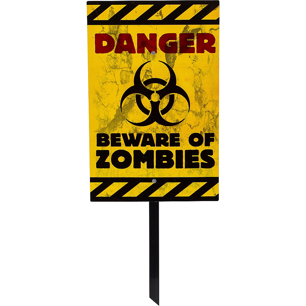 Nav Item for Danger Zombies Yard Sign Image #1