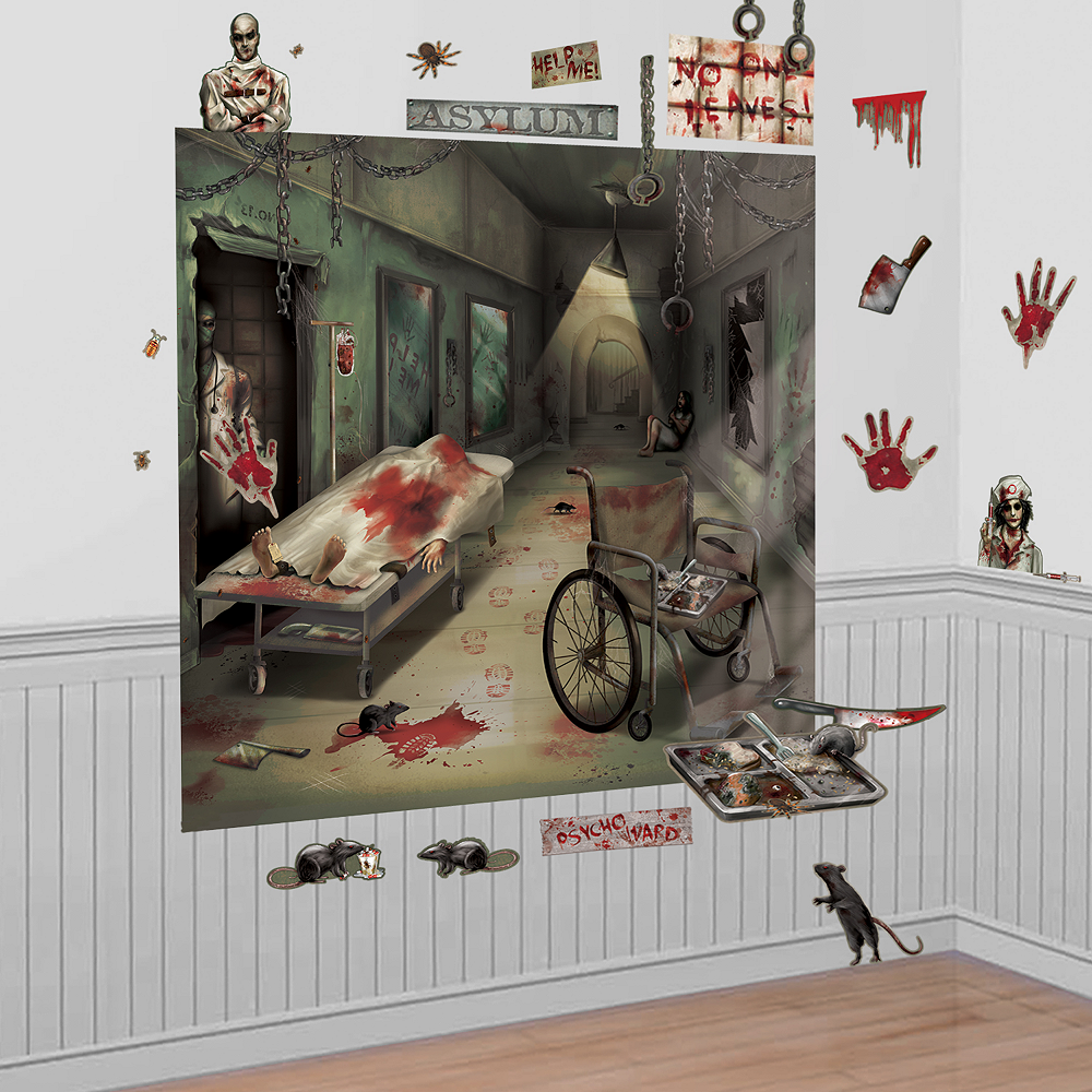 Asylum Wall Decorations 32pc Image #1