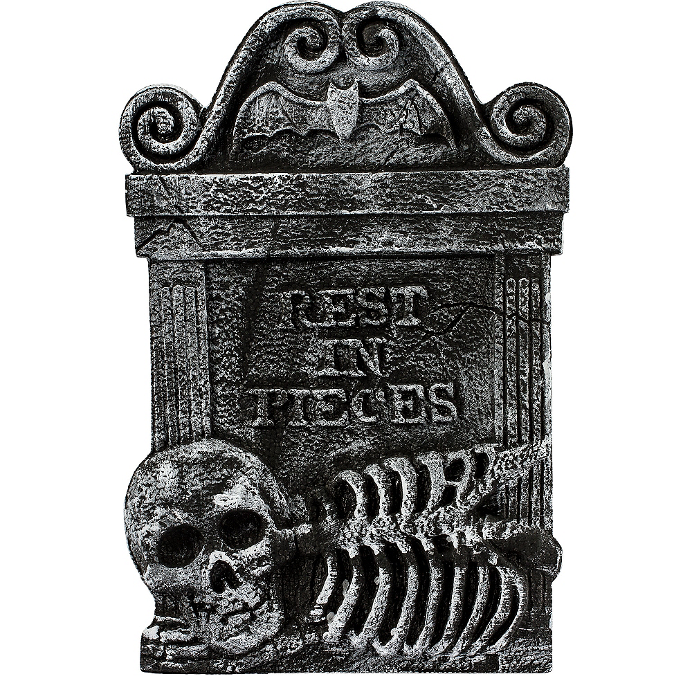 Rest in Pieces Skeleton Tombstone Image #2