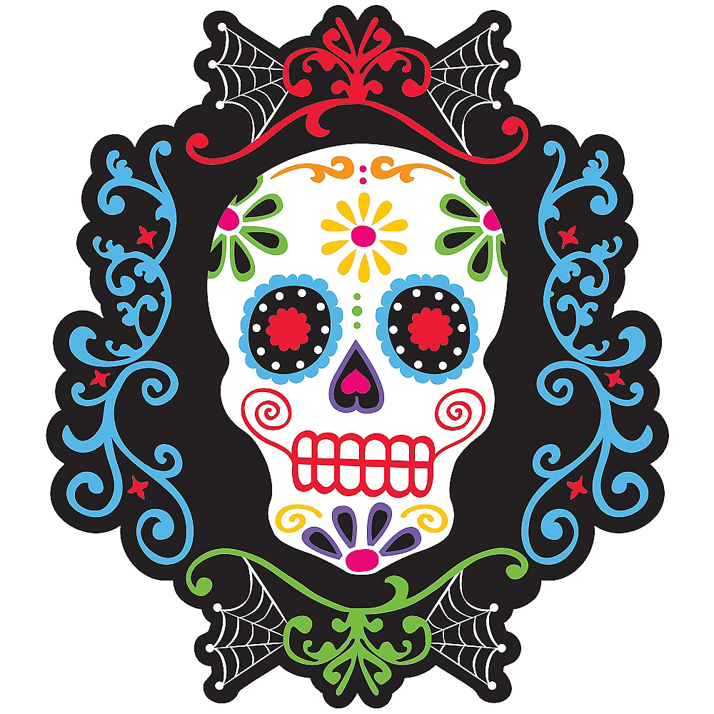 Sugar Skull Day Of The Dead Cutout Party City