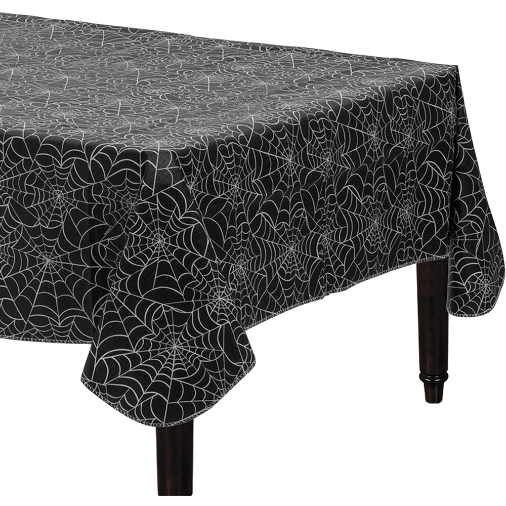 Spider Web Flannel-Backed Vinyl Table Cover Image #1