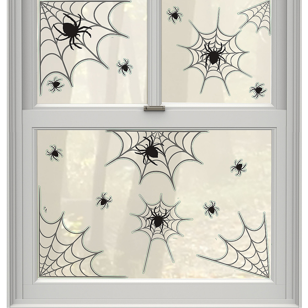 Spider Webs Cling Decals 14ct Image #1