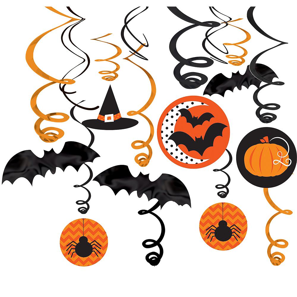 Modern Halloween Swirl Decorations 30ct Image #1