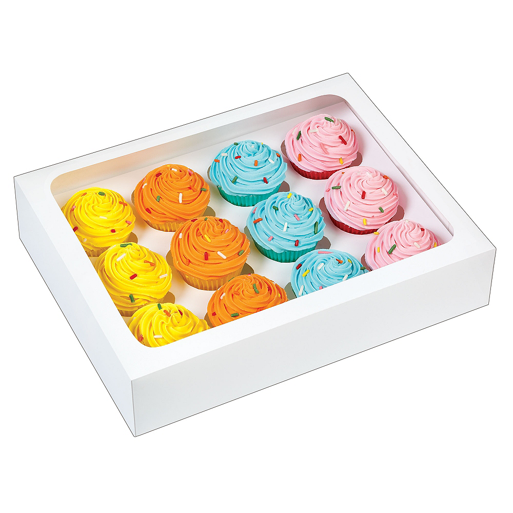 Wilton White Mini Cupcake Boxes 3ct Image #1