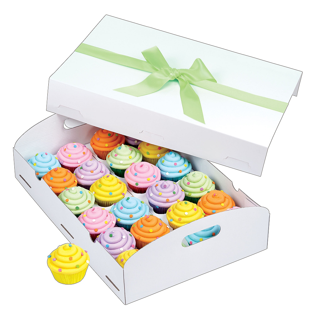 Wilton White Folding Tray Cupcake Box Image #1