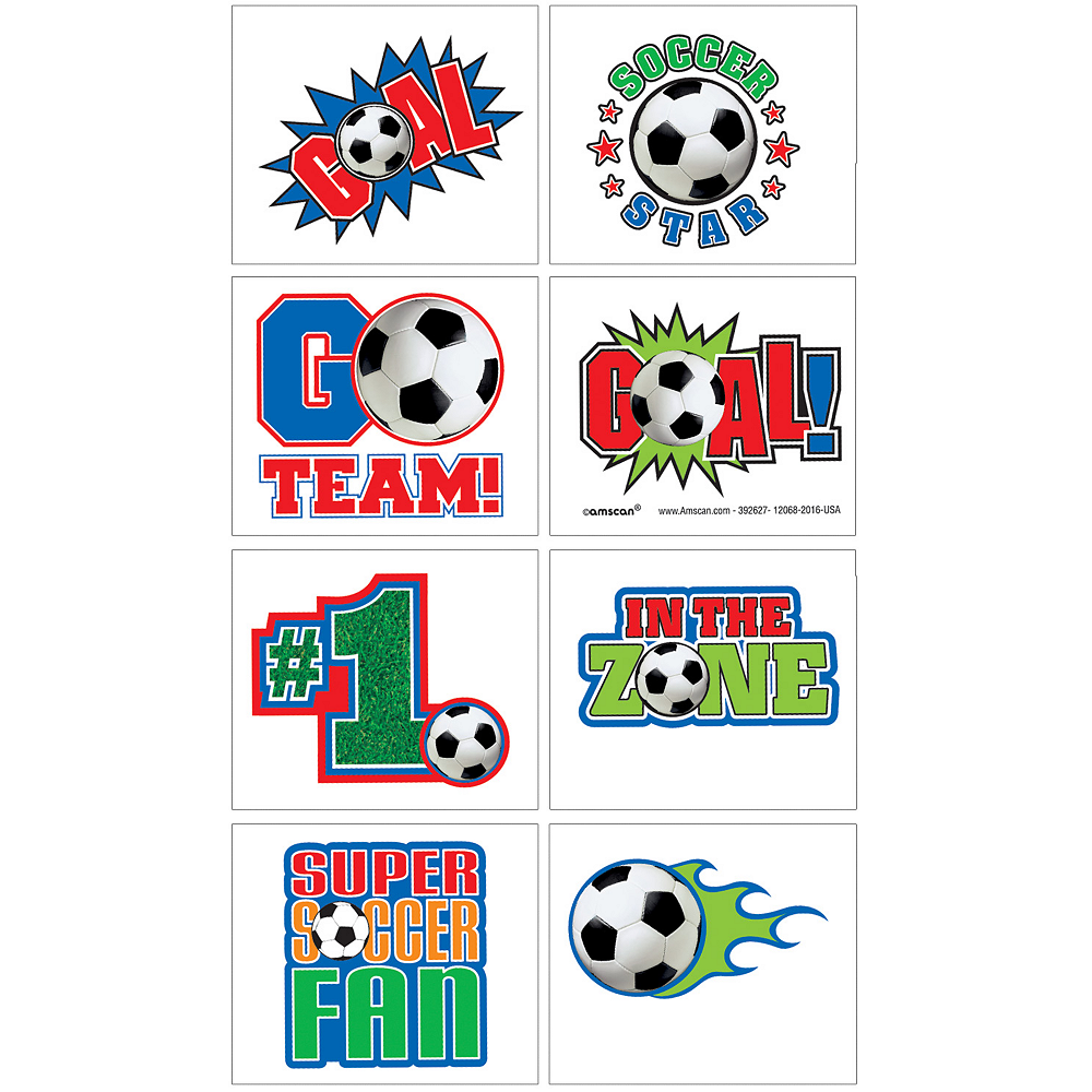 Soccer Tattoos 1 Sheet Image #1