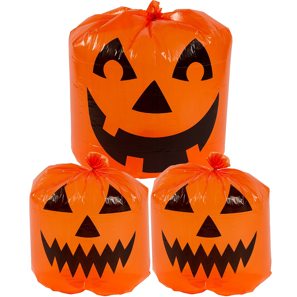 Pumpkin Lawn Bags 3pc Image #1