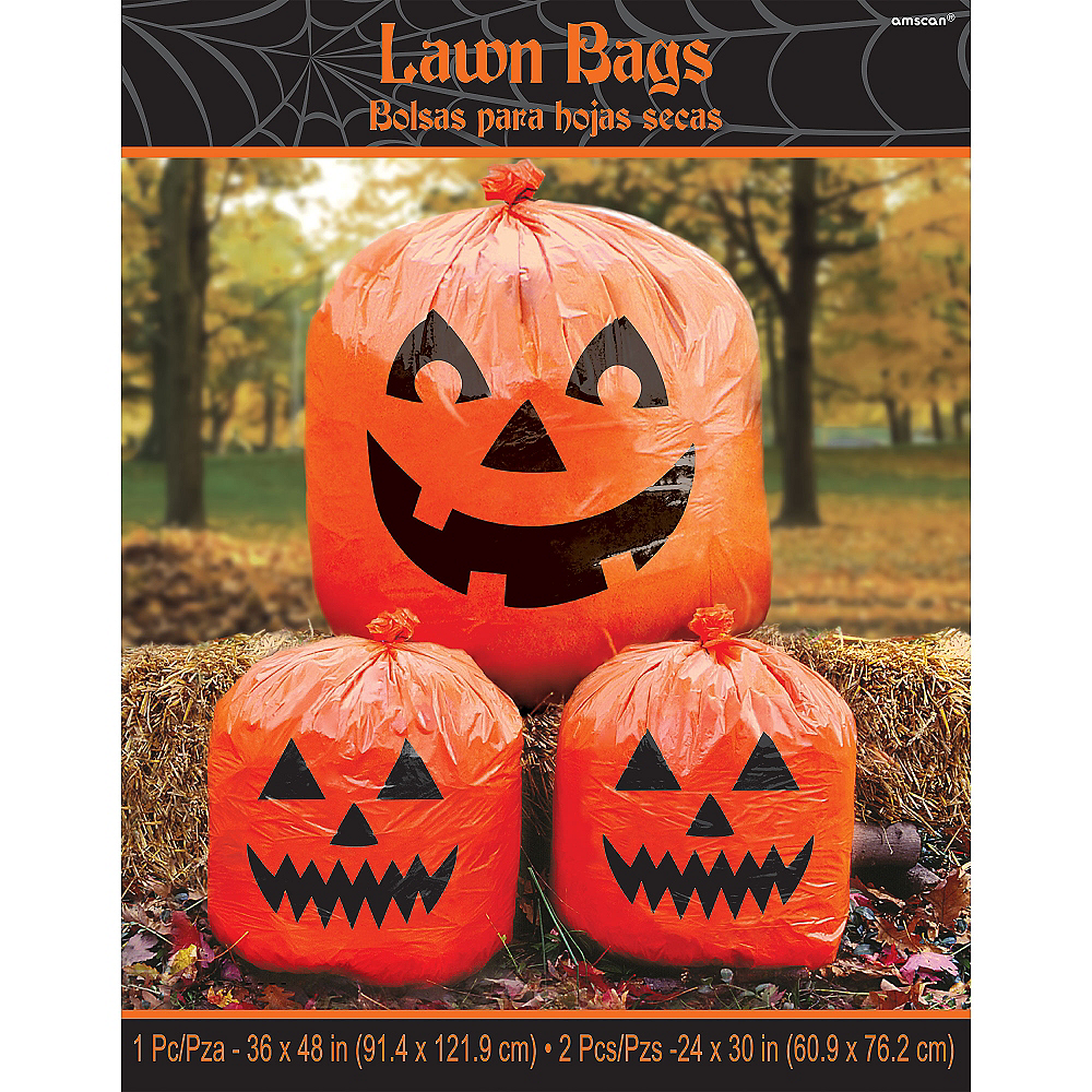 Pumpkin Lawn Bags 3pc Image #2
