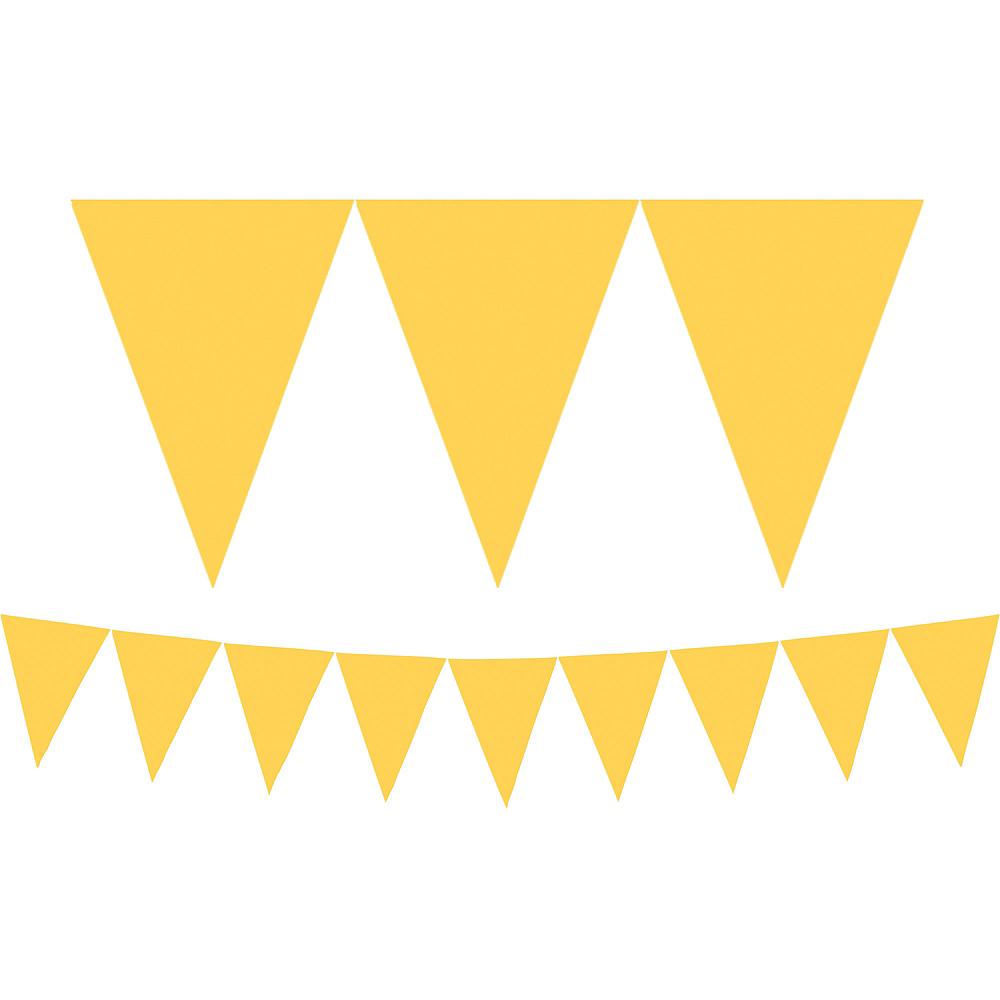 Sunshine Yellow Pennant Banner Image #1