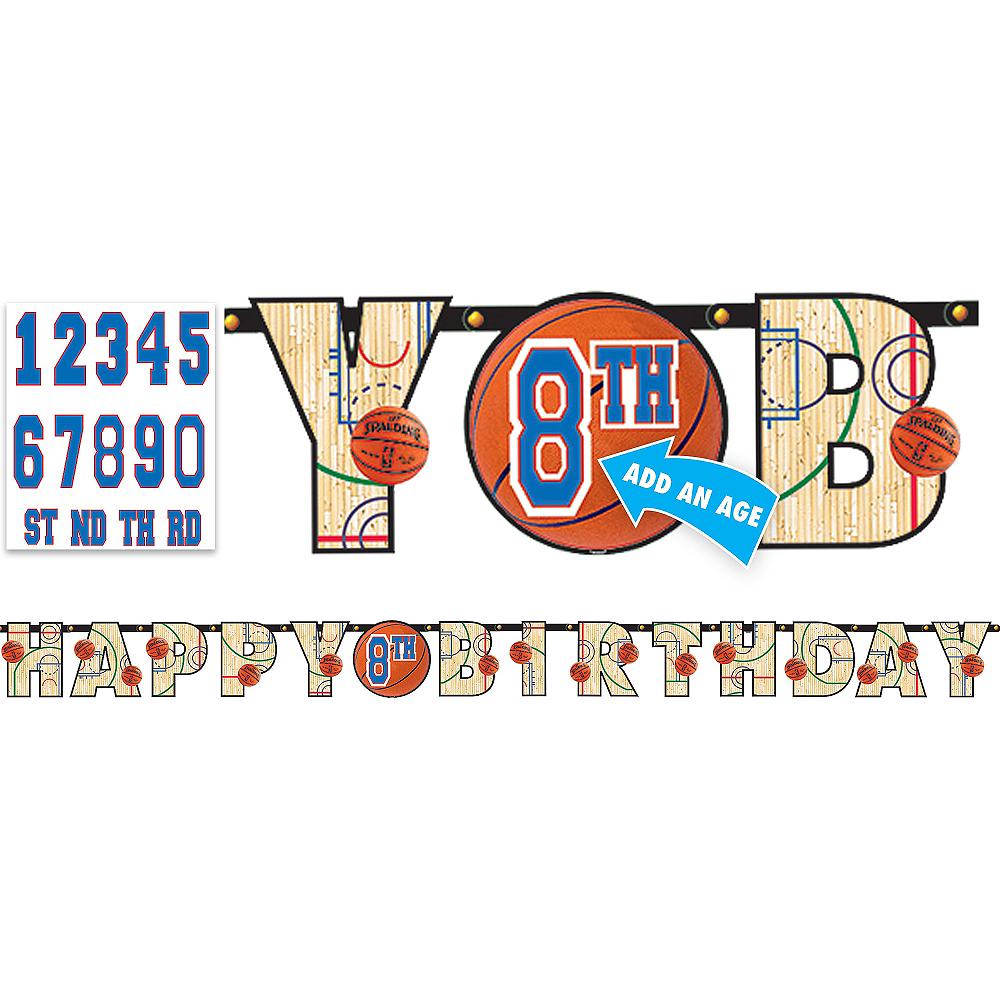 Spalding Basketball Birthday Banner Kit Image #1