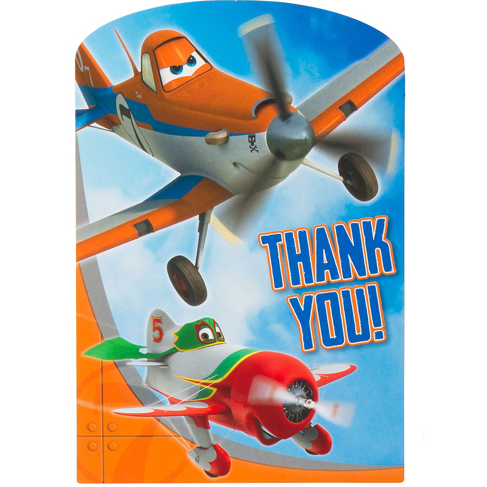 Planes Thank You Notes 8ct Image #1