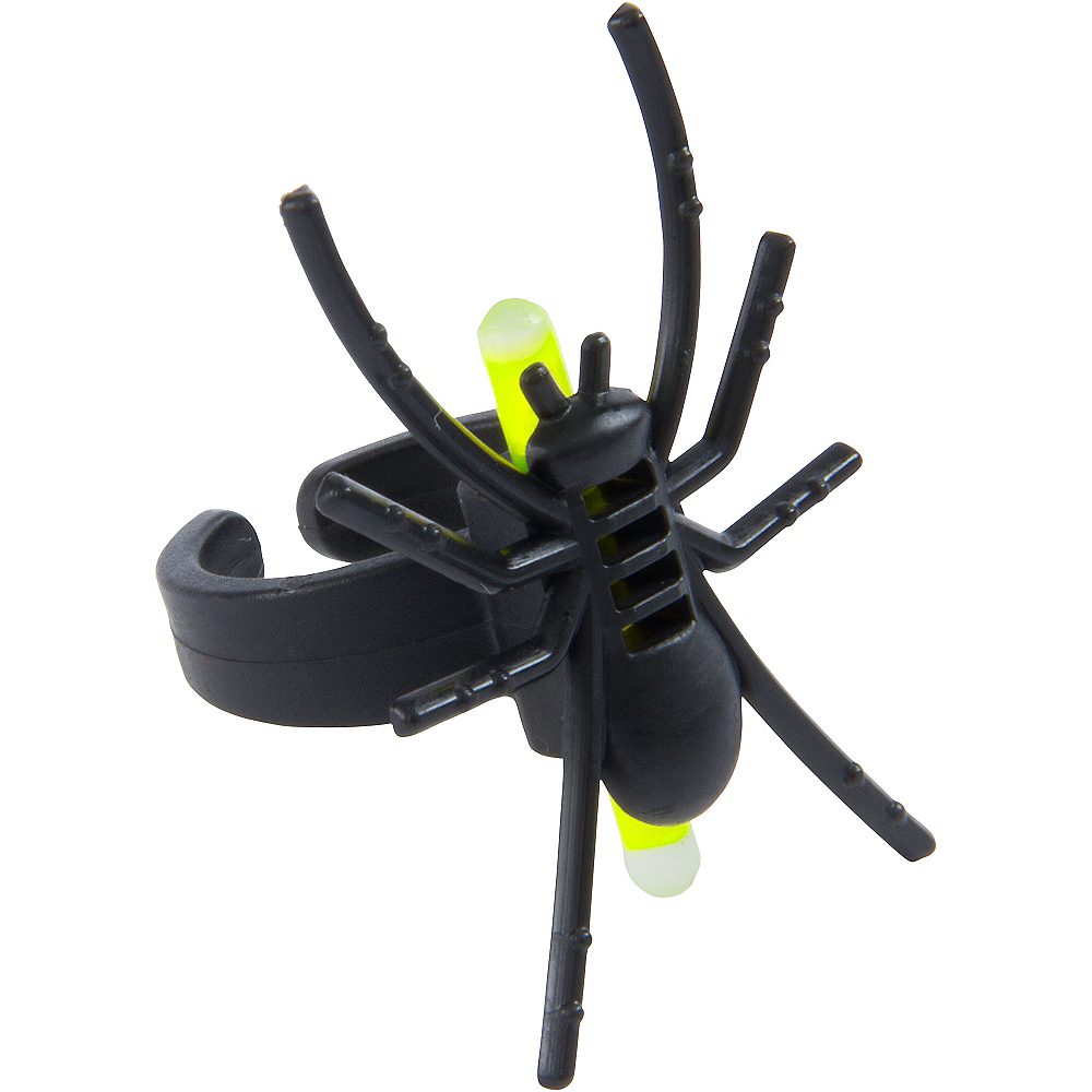 Glow Stick Spider Rings 4ct Image #2