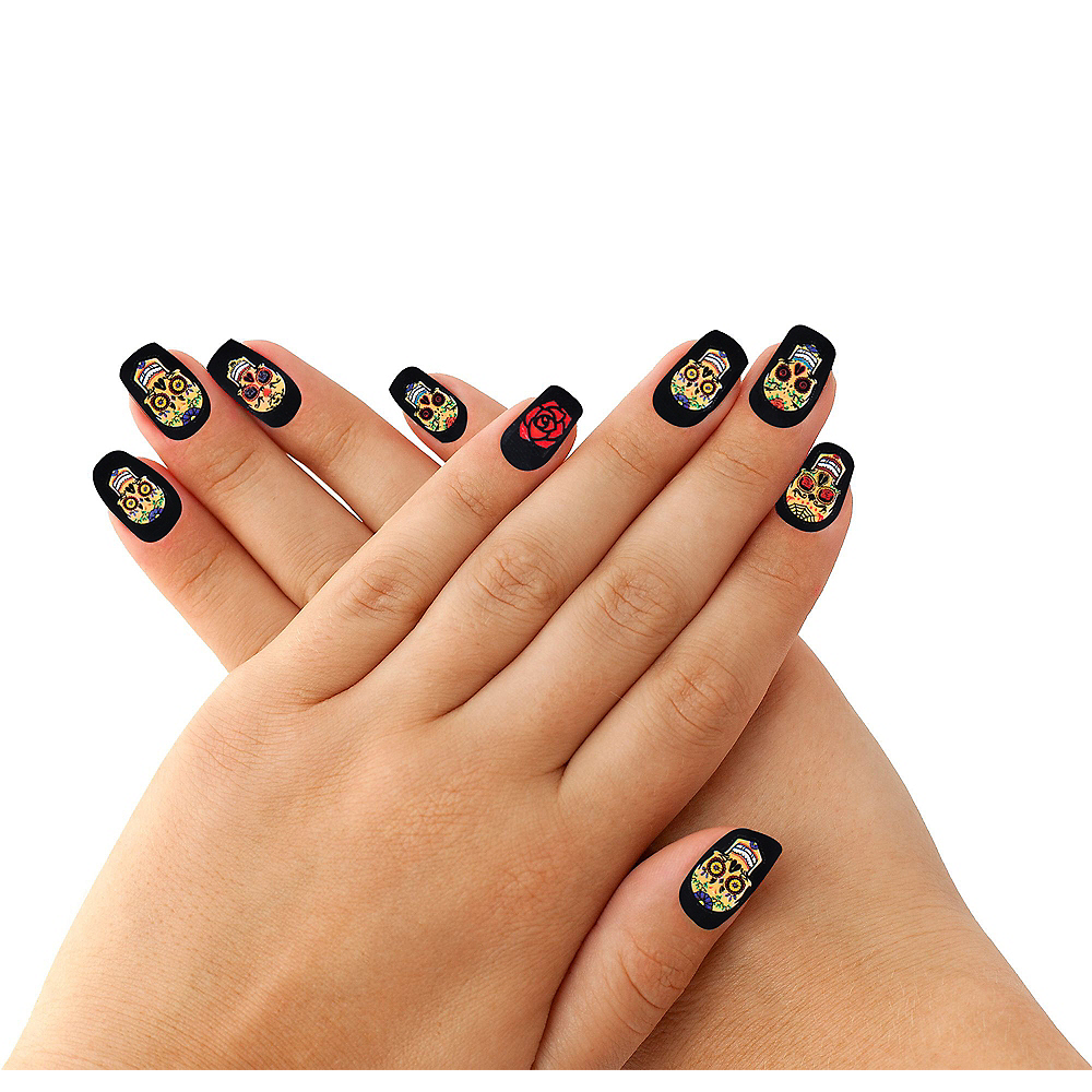 Day of the Dead Nail Wraps Image #1