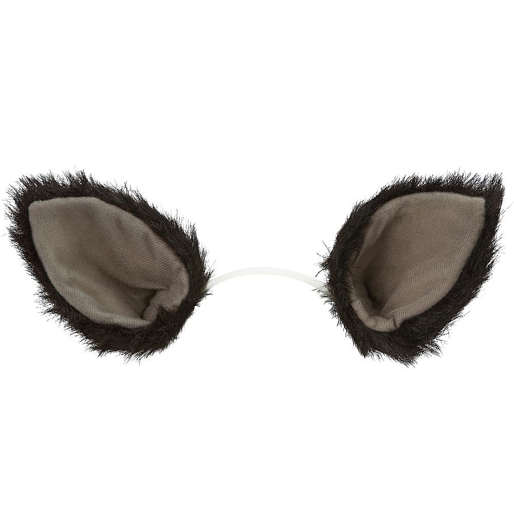 Oversized Black Cat Ears Deluxe Image #1