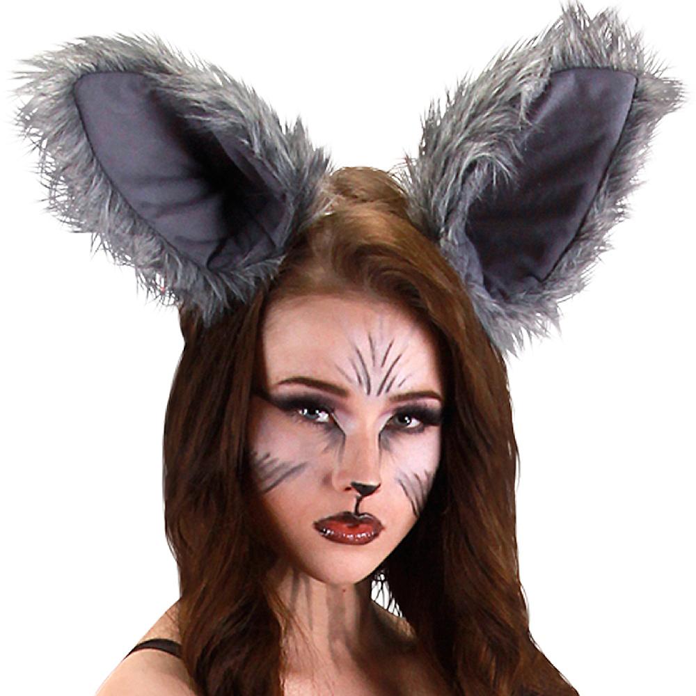 nav item for oversized gray wolf ears deluxe image 2