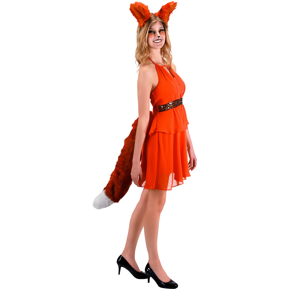 Oversized Red Fox Tail Deluxe Image #2