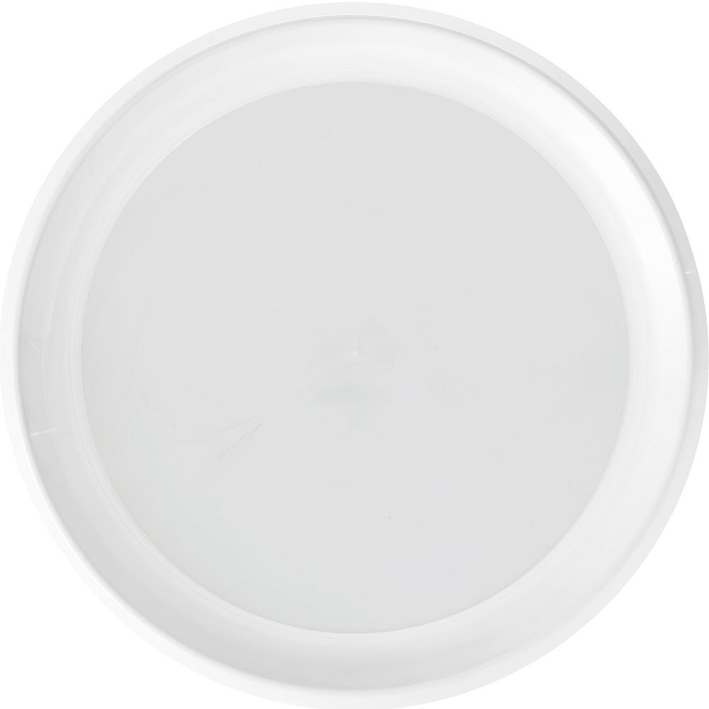 White Plastic Round Platter Image #1