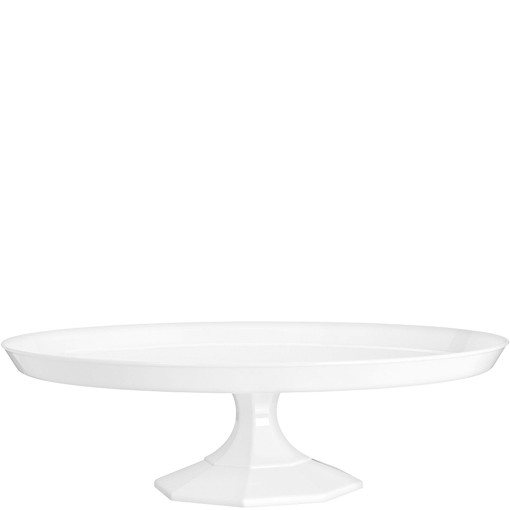 White Plastic Cake Stand 13in Party City