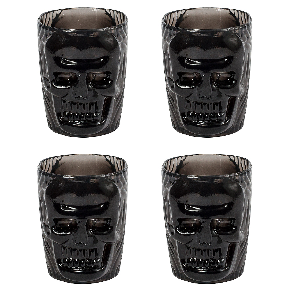 Black Skull Shot Glasses 4ct Image #1
