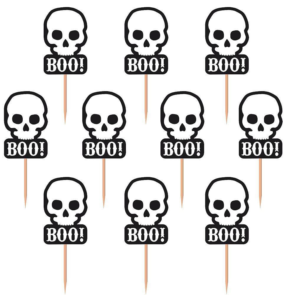 Spooky Skull Cupcake Picks 36ct