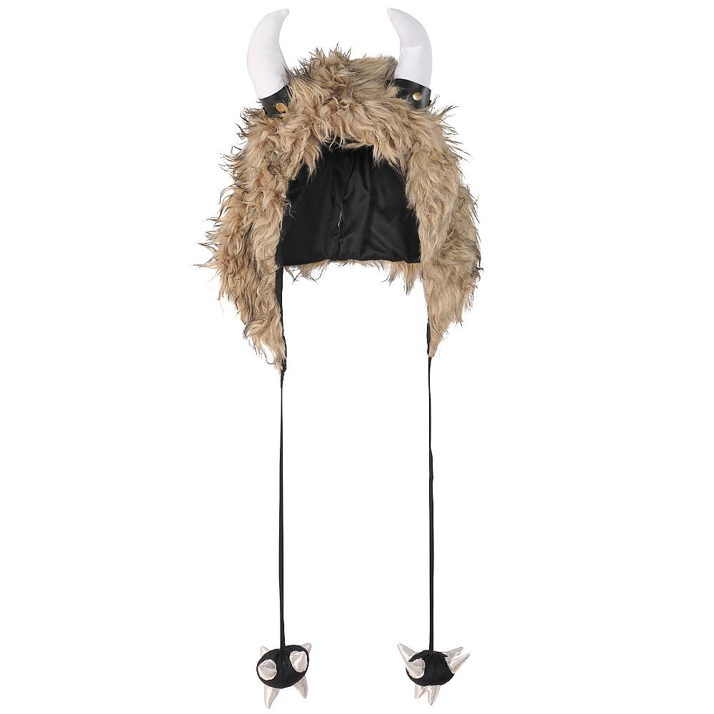 Furry Viking Hood Image #1