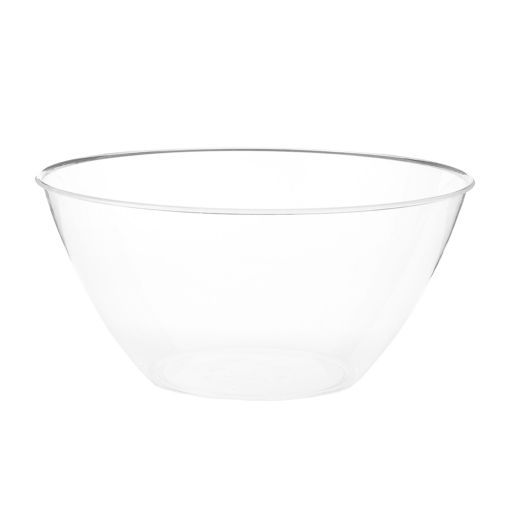 Medium CLEAR Plastic Bowl Image #1