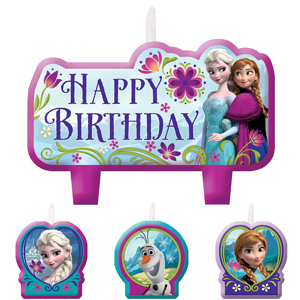 Frozen Birthday Candles 4ct Image 1