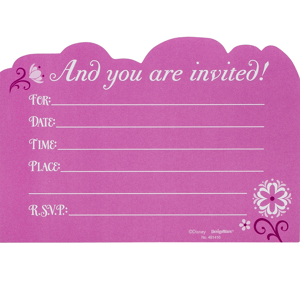 Nav Item for Frozen Invitations 8ct Image #2